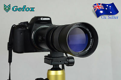 420-800mm f/8.3 - 16 Super Telephoto Zoom Camera Lens for Nikon Canon +T Mount