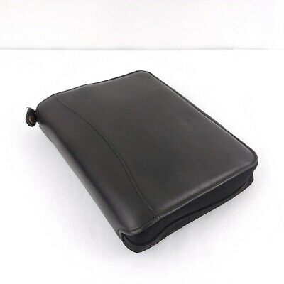 Franklin Covey Classic PDA Spacemaker Black Leather 7 Ring Planner Binder