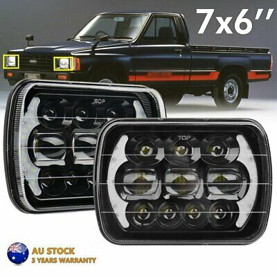 """7X6"""" 5x7'' LED Headlights High Low Sealed Beam DRL for Toyota Hilux 88-97 Pickup"""