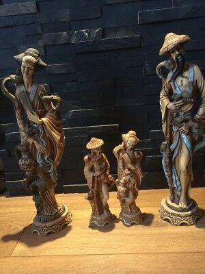 Chinese carved resin 2gents and 2 ladys figures-ornaments,Statues,