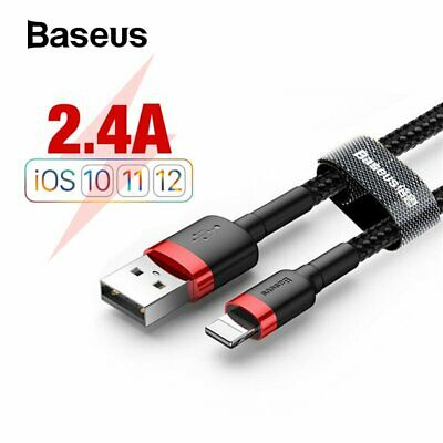 Baseus 1m Schnell Ladekabel für iPhone XS X 8 7 6 5 Plus iPad Lightning Kable