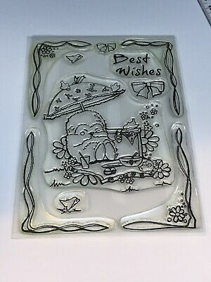 HUNKYDORY Clear Stamps PATCHWORK FOREST Hermione Hedgehog A6 Acrylic Best Wishes