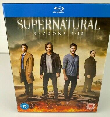 Supernatural Complete Series Collection 1-12 Blu Ray pre-owned VGC