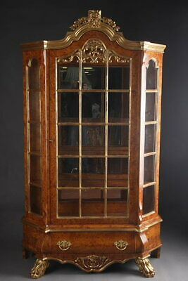 Dutch Display Cases Wardrobe in Baroque Style Ahornwurzel Veneered