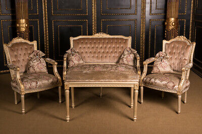 Classic French Lounge Suite Set in Louis Seize Style