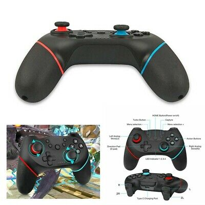 UK Bluetooth Wireless Gamepad Joystick Pro Controller For Nintendo Switch VHS