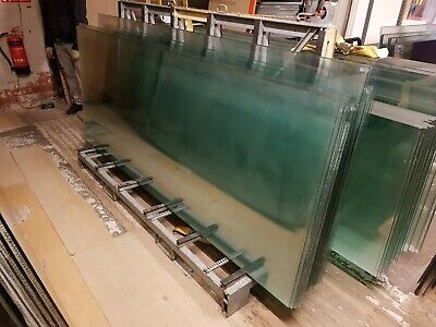 Joblot 10M Run 10Mm Toughened Glass Panels Sheets Office Partitions Balcony Roof