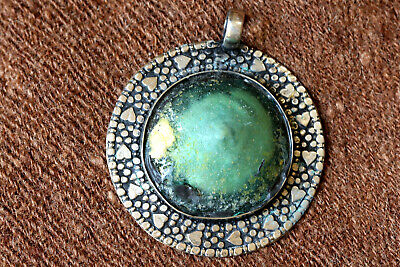 Ancient Roman glass Pendent set with an ancient Roman glass fragments