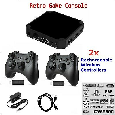 Retro Video Game Console Built in Games Plug & Play 2 Wireless like Pandoras Box