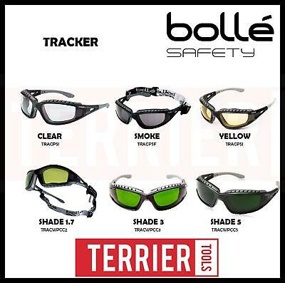 Genuine Bolle Tracker - Safety Glasses Goggles Anti Mist + Free Bag & Headstrap