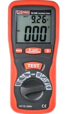 RS PRO RS5500, Insulation Tester 1000V 2GΩ CAT III 1000 V
