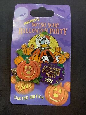 Disney WDW 2008 Mickeys Not So Scary Halloween Party MNSSHP Donald Pumpkin Pin