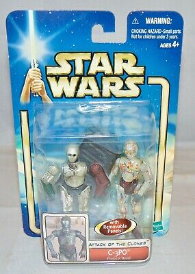 Star Wars C-3PO Droid Action Figure Background Insert RARE MOC Attack of Clones