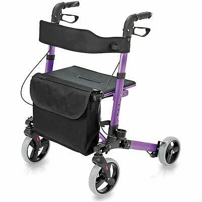 HealthSmart Rollator Walker with Seat and Backrest,Supporting up to 300 pounds,