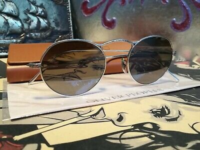Rare Oliver Peoples M-4 Limited Edition Silver Mirror Glass Sunglasses Japan