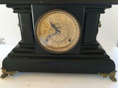 Antique, E. Ingraham Co. Bristol Conn. USA, Mantle Gong Chime, Lions Head Clock