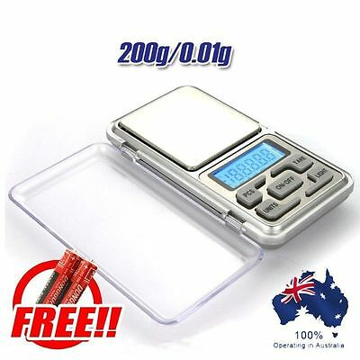 200g 0.01g Digital Pocket Scale Jewellery Balance gram Scales Weight gram point