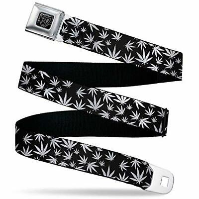 Music Notes Black//White Buckle-Down Seatbelt Belt 20-36 Inches in Length 1.0 Wide