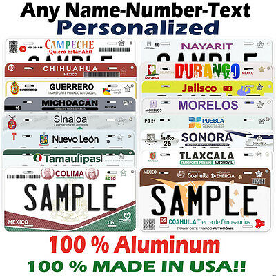 Mexico Personalized Novelty Car Auto License Plate