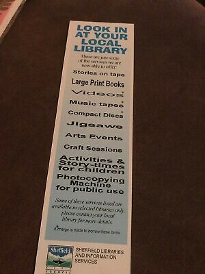 Cardboard Bookmark. Sheffield Libraries And Information Services.
