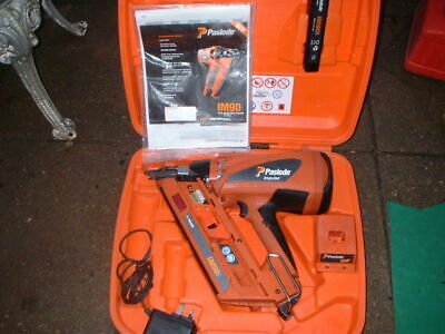 Paslode Impulse IM90i First Fix Nail Gun with 1 batterie charger and Carry Case