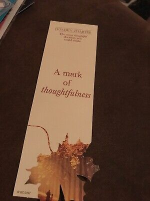 Cardboard Bookmark. A Mark Of Thoughtfulness.
