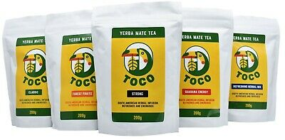 Toco Yerba Mate Tea 200g -5 types- Produced in Argentina & Brazil. Packed in AU.