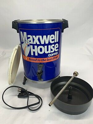 Maxwell House Vintage Brew Coffee Pot Dispenser Advertising Can