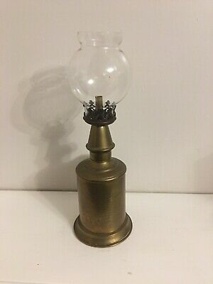 RARE 1885 Antique French Pigeon Oil Lamp Unexplodable Vintage Brass Glass Shade