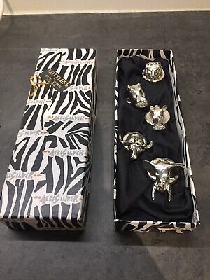 5 Animal Silver Filled Menu Holders/Place Card Holders Afrisilver South African