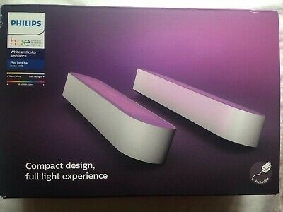 Philips Hue Colour Play Wall Entertainment Light Double Pack-White Compact BNIB
