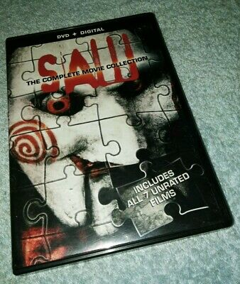 Saw The Complete Movie Collection DVD Set 7 Films HORROR HALLOWEEN