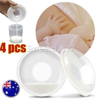 4Pcs Breast Milk Collection Shell Breast Saver for Travel Daily Working Moms NEW