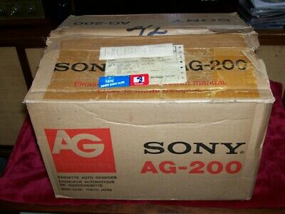 "Vintage Sony ""Ag 200  Beta Max Cassette Auto Changer , New In Box , Manuals ."