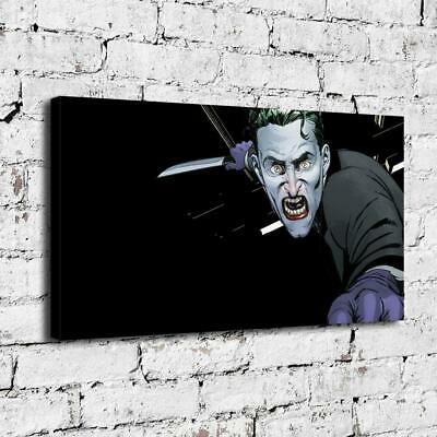 """12""""x22""""Crazy Clown HD Canvas Prints Painting Home Decor Picture Wall Art Poster"""