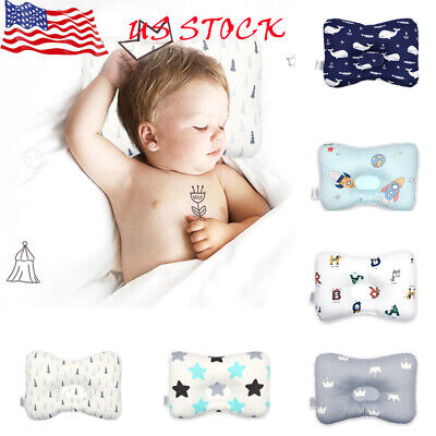 New Baby Infant Newborn Pillow Flat Head Sleeping Support Cushion Prevent Soft#O