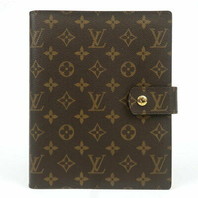 Louis Vuitton Monogram Agenda GM Day Planner Notebook Cover Case R20106 Used