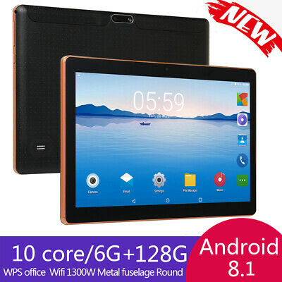 10.1'' Tableta Android Ten core 6+128GB WiFi 3G 16MP Cámara Tablet 2 card Negro