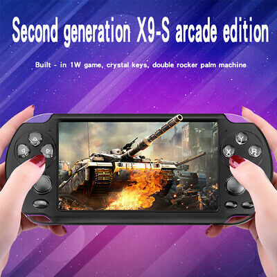 8GB Handheld X9-S PSP Game Consoles Player Built-in 10000 Games 5.1'' Portable#