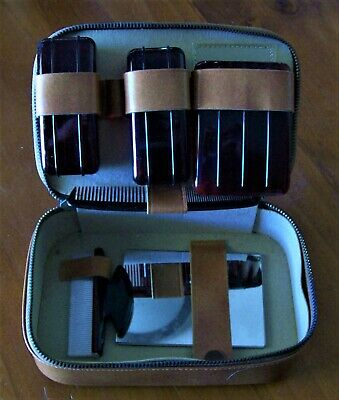 """Men's Travel Case Toiletry Grooming Shaving PVC Zippered Case 6 piece Set"""