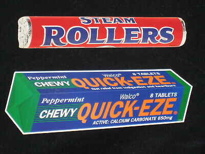 Allen's Steam Rollers Walco Quick Eze 1990's 3D cutouts Advertising shop signs