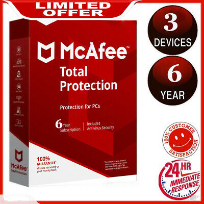 mcafee total protection 2020 3 Devices / 6 Years Protection Genuine License 🔥