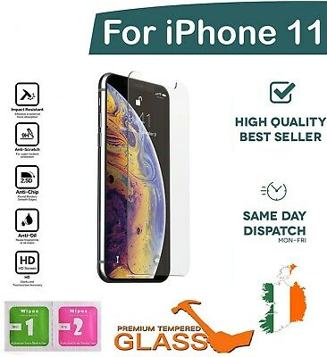 Apple iPhone 11 / 10 XR Mobile Genuine Tempered Glass Screen Protector Best Film