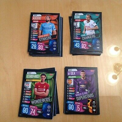Topps Match Attax Champions League 2019/20 Wonderkids strikers game buy 3 get 1