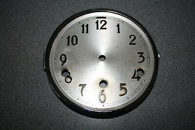 "Vintage 6"" hinged Westminster chime chrome clock dial/bezel, for parts/spares"