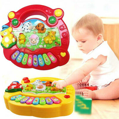 1Pc baby kids musical educational piano animal developmental music toys ~JP