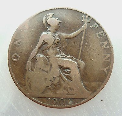 1906 British Penny King Edward VII