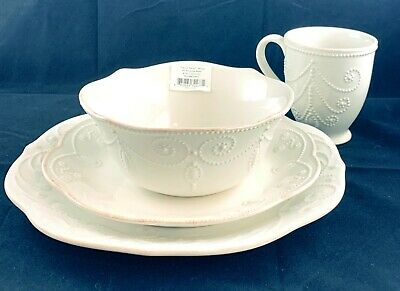 New-in-Box Lenox French Perle White 4-Piece Place Setting