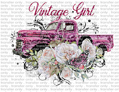 Country Old Vintage Truck - Waterslide Decals for Tumblers & Furniture