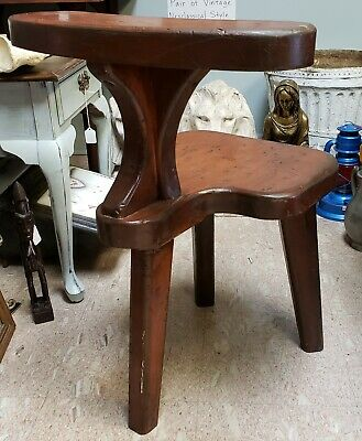 Late 19th/Early 20th Century English Primtive Wooden Cock-Fighting Chair